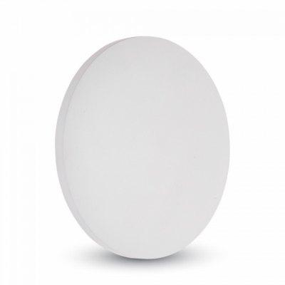 Image of   V-Tac 9W LED hvid væglampe - Rund, indirekte, IP65 udendørs, 230V, inkl. lyskilde - Kulør : Neutral, Dæmpbar : Ikke dæmpbar