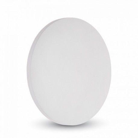 V-Tac 9W hvid LED væglampe - Rund, indirekte, IP65, 230V