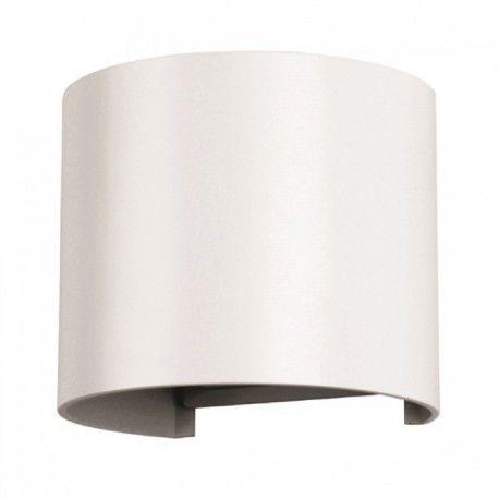 V-Tac 6W LED hvid væglampe - Rund, justerbar spredning, IP65 udendørs, 230V, inkl. lyskilde