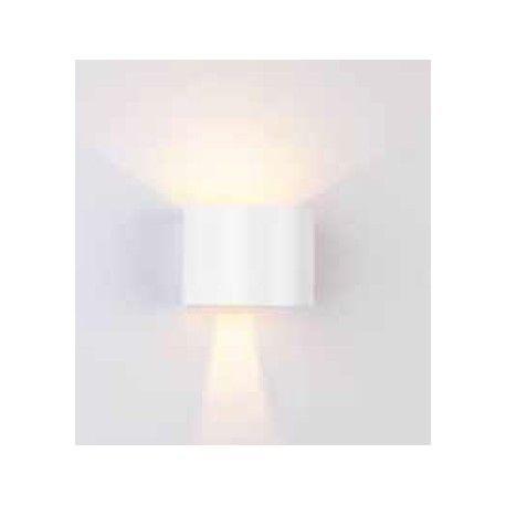 V-Tac 6W hvid væglampe - Rund, justerbar spredning, IP65, 230V