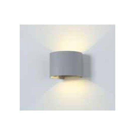 V-Tac 6w grå væglampe - rund, justerbar spredning