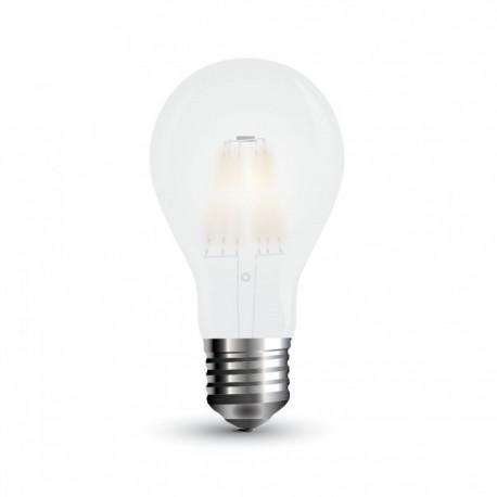 V-Tac 10W LED pære - Kultråd, A67, materet glas, E27