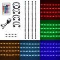 USB TV-stemningslys i LED med skiftende farver - 4 lister, 50 cm pr. liste, RGB
