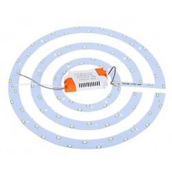 2D kompakt lysstofrør 36W LED indsats - Ø36 cm, erstat cirkelrør og kompaktrør