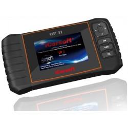 obd.icar.op.II: iCarsoft OP II - Opel, nulstil service og bremser, multi-system scanner