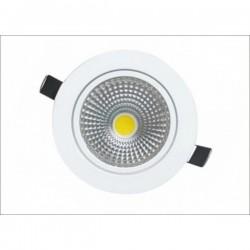 RESTSALG: Indbygningsspot, 6w, varm hvid, 45mm højde, hvid, dæmpbar