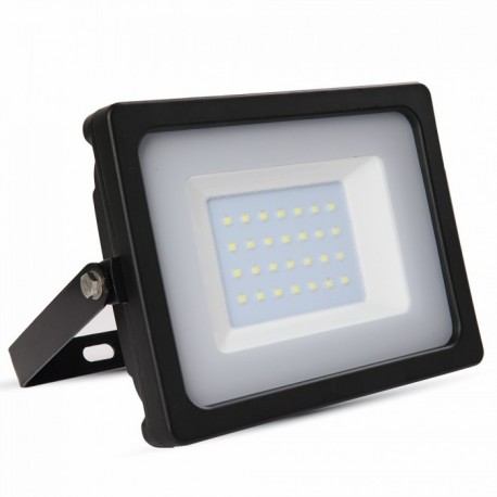 V-Tac 30W LED Projektør - Ny model, Tynd, SMD, 2400lm, Arbejdslampe