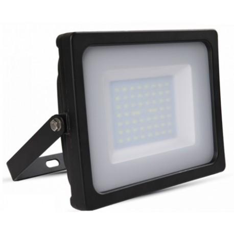 V-Tac 50W LED Projektør - Ny model, Tynd, SMD, 4000lm, Arbejdslampe