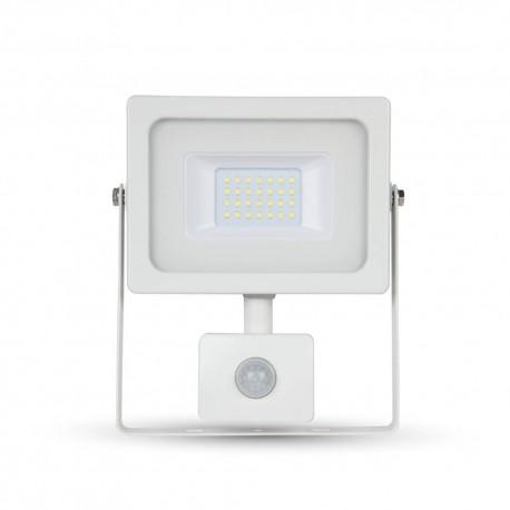 V-Tac 10W Projektør med sensor - Ny model, Tynd, SMD