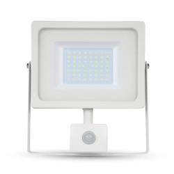 VT-4933.PIR: V-Tac LED projektør med sensor 30W - Ny model, tynd, SMD