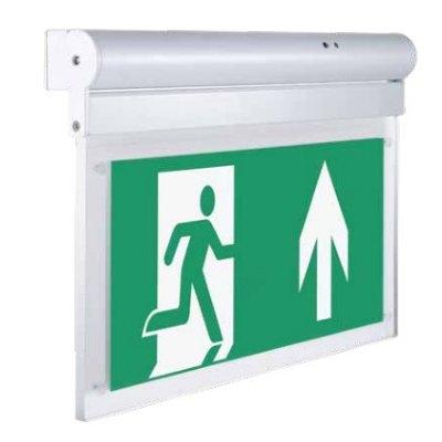 Billede af V-Tac væg- eller loftmonteret LED exit skilt - 2W, Samsung LED chip, 140 lumens - Dæmpbar : Ikke dæmpbar, Kulør : Kold