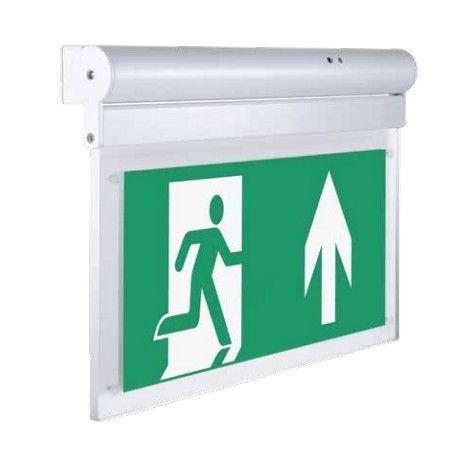 V-Tac væg- eller loftmonteret LED exit skilt - 2W, Samsung LED chip, 140 lumens