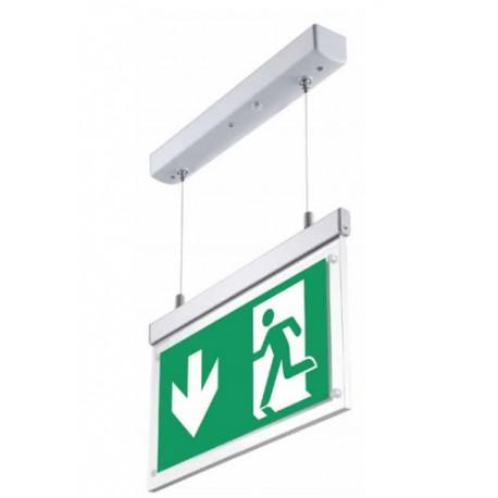 LED Exit skilt, nedhængt loftmontering - 2W, 120 lumens