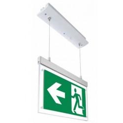 V-Tac nedhængt/indbygget LED exit skilt - 2W, 120 lumens