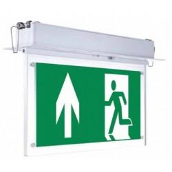 V-Tac loftmonteret/indbygget LED exit skilt - 2W, 120 lumens