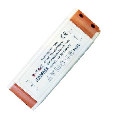 Image of   V-Tac 15W driver til 15W indbygningspaneler - Ikke dæmpbar, 230V
