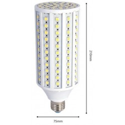 2r.30w.corn.nw: 30W LED kolbepære - 3000lm, E27