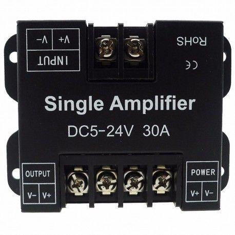 Signal forstærker til enkelt farvede LED strips