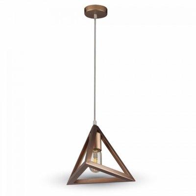 Image of   V-Tac Geometrisk pendel lampe - Champagne/guld farve, triangle, E27