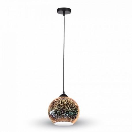 V-Tac 3D Glas Pendel lampe - Ø15cm, E27