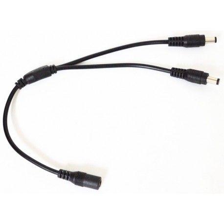 DC kabel splitter - 5V-48V, sort