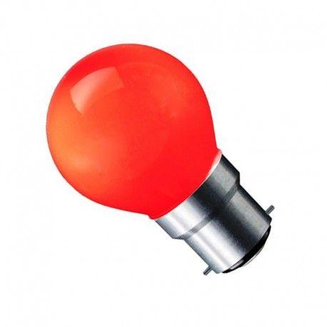 CARNI1.8 LED pære - 1,8W, rød, 230V, B22