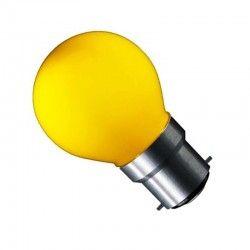 carni.b22.yellow: CARNI1.8 - 1,8W, gul, 230V, B22