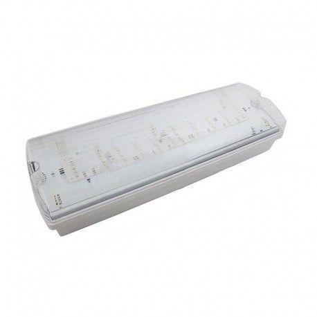 V-Tac 4W LED nødbelysning - Til væg/loft montering 190 lumen, inkl. batteri og piktogrammer