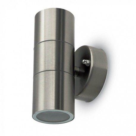 V-Tac væglampe med op/ned lys - IP44 udendørs, GU10 fatning, uden lyskilde