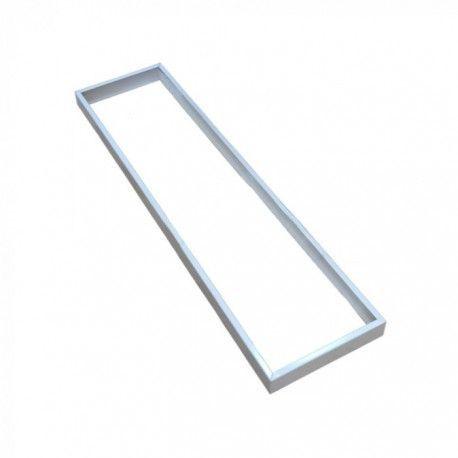 Ramme til 120x30 LED panel - Hurtig skrueløs samlesæt, hvid kant