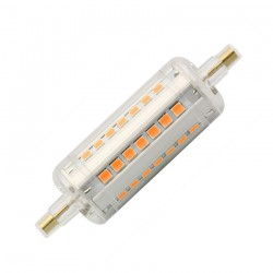 Demo og restsalg RESTSALG: R7S LED pære - 7W, 78mm, dæmpbar, 230V, R7S