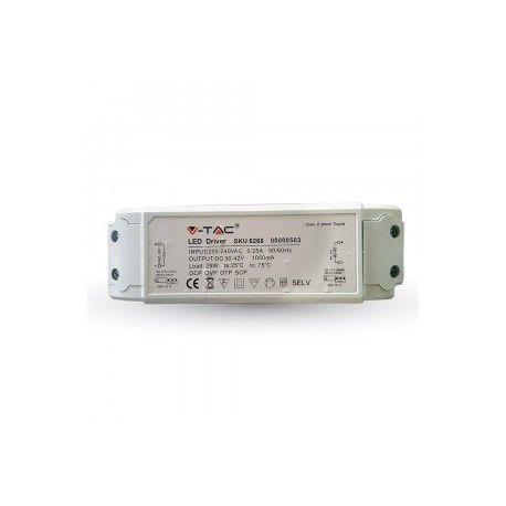 V-Tac 45W driver til LED panel - Flicker free, passer til vores 45W/5400lm LED paneler