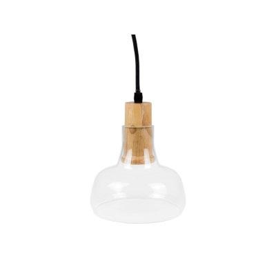 Image of   V-Tac pendel lampe - Klar glas, Ø16,5cm, E27