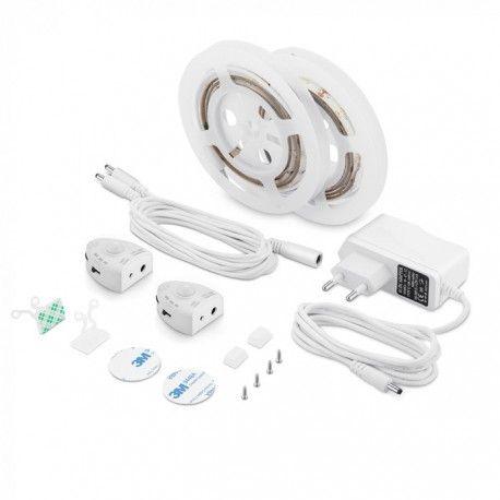 V-Tac LED Bedlight - Smart sengebelysning til dobbeltseng