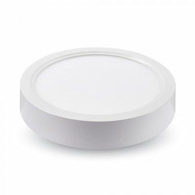 Image of   V-Tac 22W LED loftslampe - Ø20,5cm, højde: 3,5cm, hvid kant, inkl. lyskilde - Kulør : Varm, Dæmpbar : Ikke dæmpbar