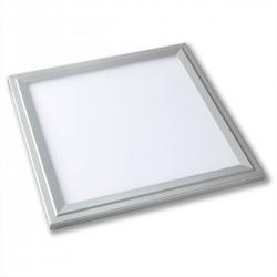 Restsalg: 12W LED indbygningspanel sølvkant - Hul: 28 x 28 cm, Mål: 29,5 x 29,5 cm, 230V