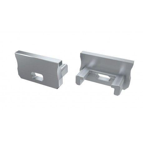 Endestykker til aluprofil Type A - 2 stk, grå