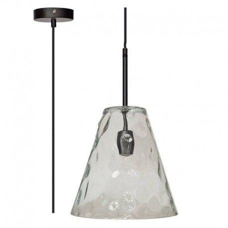 V-Tac moderne pendellampe - Kegleformet glas, Ø27 cm, E27