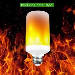 7W.flame.effect.E27: 7W LED pære - med flamme effekt, E27