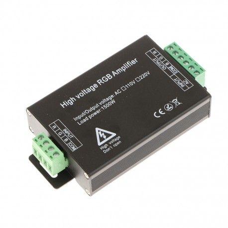 Signal forstærker til 230V RGB strip - max 80 meter