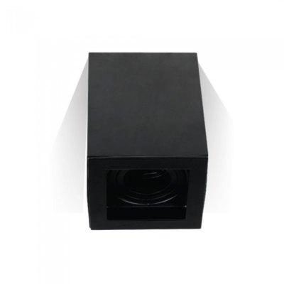 Image of   V-Tac loftslampe - Firkantet, sort, IP20, GU10 fatning, uden lyskilde