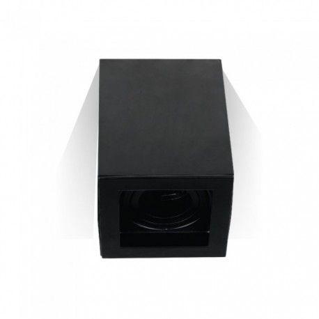 V-Tac loftslampe - Firkantet, sort, IP20, GU10 fatning, uden lyskilde