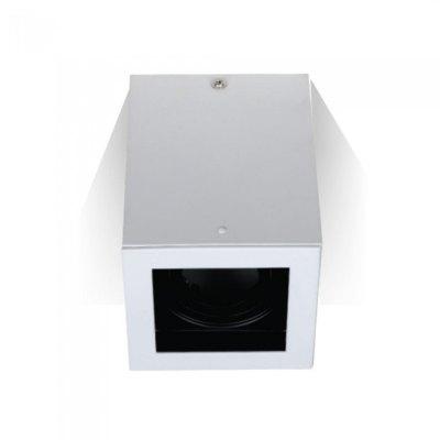 Image of   V-Tac loftslampe - Firkantet, hvid, IP20, GU10 fatning, uden lyskilde