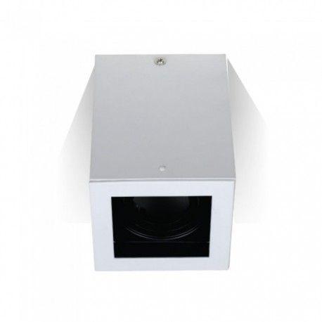 V-Tac loftslampe - Firkantet, hvid, IP20, GU10 fatning, uden lyskilde