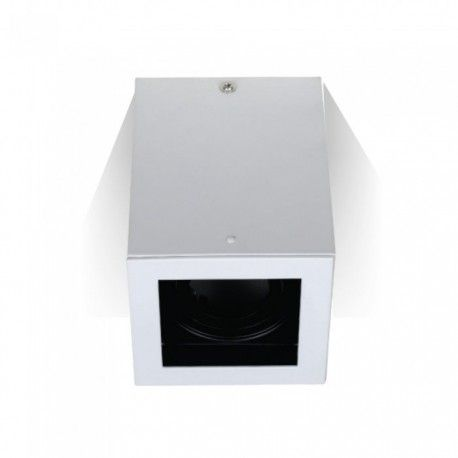 V-Tac loftslampe - Firkantet, hvid, IP20, GU10 fatning
