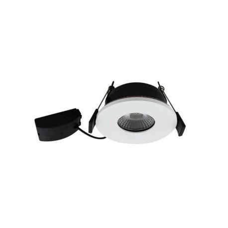 V-Tac 7W LED indbygningsspot - Hul: Ø7,2 cm, Mål: Ø8,5 cm, dæmpbar, 230V