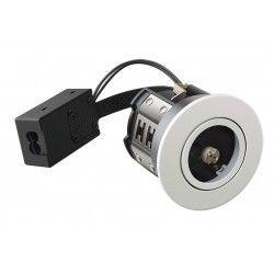 Indendørs indbygningsspots LEDlife Inno88 - MR16, mat hvid, IP44, godkendt i isolering