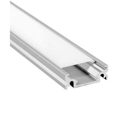V-Tac aluprofil til LED strip - 1 meter, materet cover
