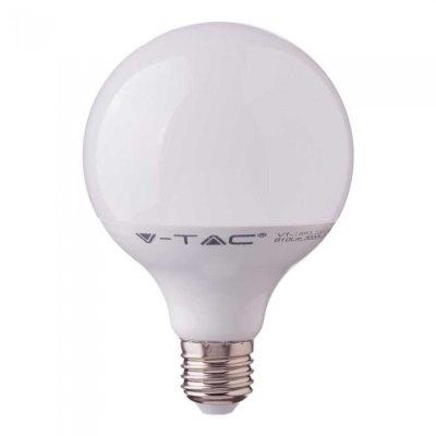 Image of   V-Tac 17W LED globepære - Samsung LED chip, Ø12 cm, E27 - Kulør : Varm, Dæmpbar : Ikke dæmpbar