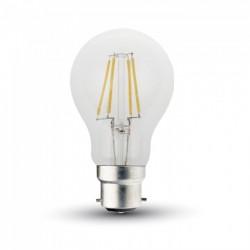 V-Tac 5W LED kronepære - Kultråd, B22